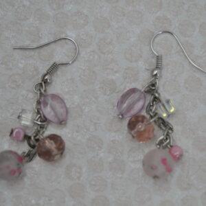 Boucles d'oreilles la vie en rose, Réf. 243